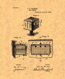 Bee Feeder Patent Print
