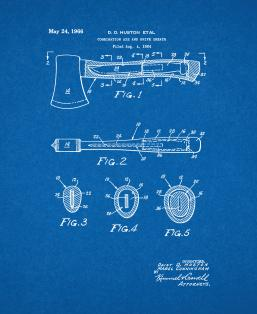 Combination Axe and Knife Sheath Patent Print