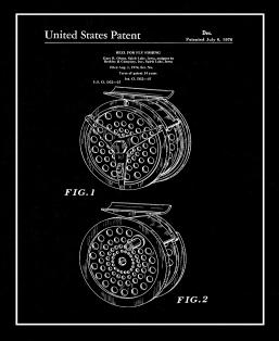 Reel For Fly Fishing Patent Print