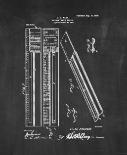 Accountant's Ruler Patent Print