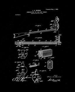 Combination Toy Gun and Target Patent Print