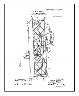 Flying-machine Patent Print