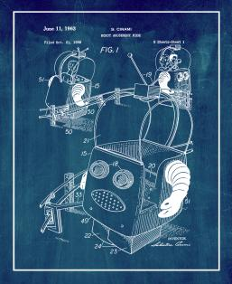 Robot Amusement Ride Patent Print