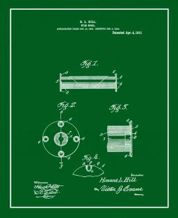 Camera Film Spool Patent Print