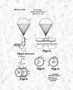 Aircraft Parachute Flare Patent Print