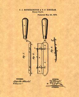 Beekeeping Honey Knife Patent Print