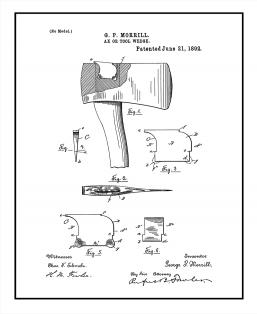 Ax Or Tool Wedge Patent Print