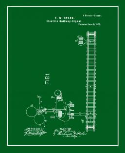Electric Railway Signal Patent Print