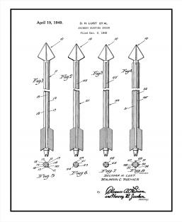 Archery Hunting Arrow Patent Print