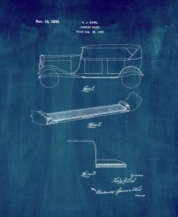 Automobile Running Board Patent Print