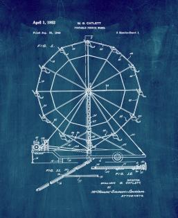 Portable Ferris Wheel Patent Print
