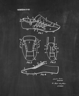Football Boots Patent Print