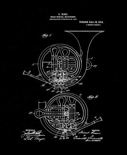 Brass Musical Instrument Patent Print
