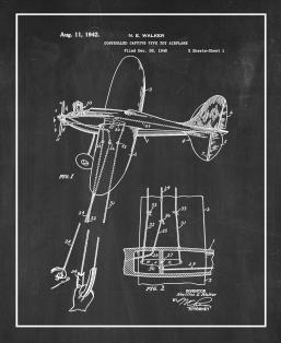 Controlled Captive Type Toy Airplane Patent Print