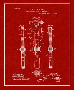 Adjustable Wrench Patent Print
