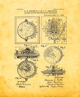 Calling Device for Telephone-exchanges Patent Print