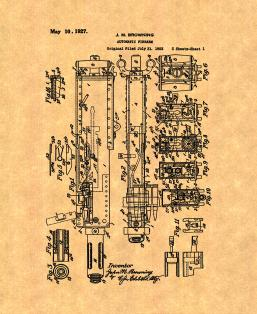 M2 Browning Machine Gun in .50 BMG Patent Print