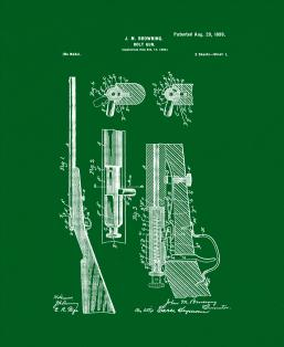 Winchester 1900 bolt action single shot .22 Rifle Patent Print