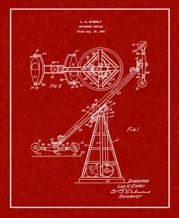 Amusement Device Patent Print