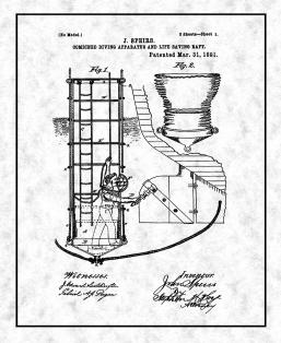 Combined Diving Apparatus And Life Saving Raft Patent Print