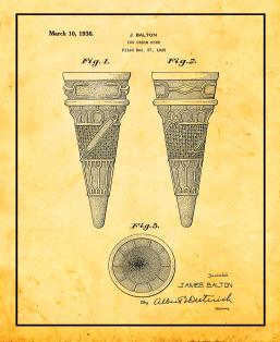 Ice Cream Cone Patent Print