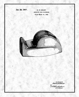 Adhesive Tape Dispenser Patent Print