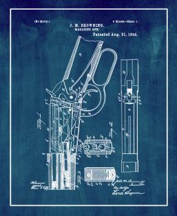 Winchester 1894 lever action Rifle Patent Print