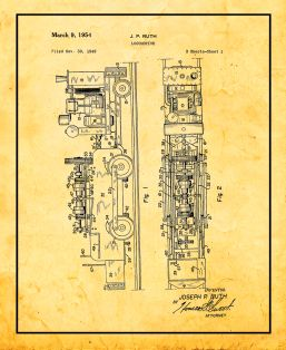 Locomotive Patent Print