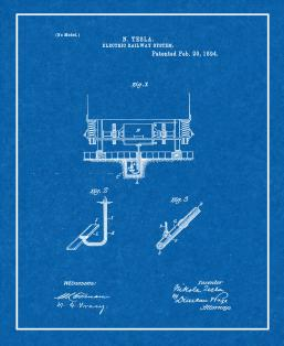 Electric Railway System Patent Print