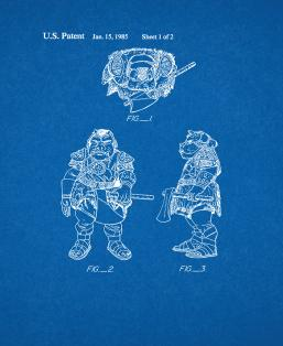 Star Wars Gamorrean Guard Patent Print