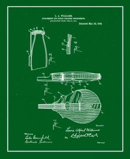 Attachment for Picked Stringed Instruments Patent Print