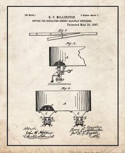 Device For Operating Street-Railway Switches Patent Print