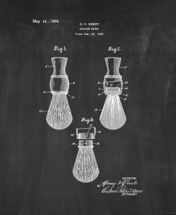 Shaving Brush Patent Print