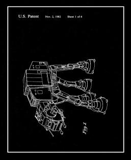 Star Wars AT-AT Patent Print