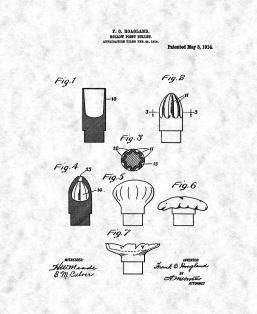 Hollow-point Bullet Patent Print