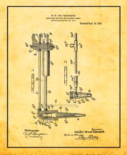 Acetylene Cutting and Welding Torch Patent Print
