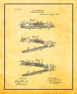 Combination Knife Patent Print
