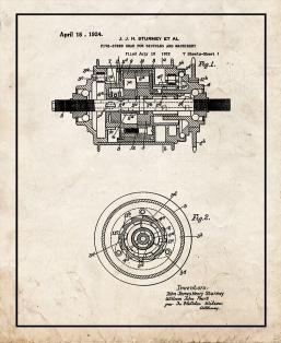 Five-speed Gear for Bicycles and Machinery Patent Print