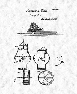 Diving Bell Patent Print