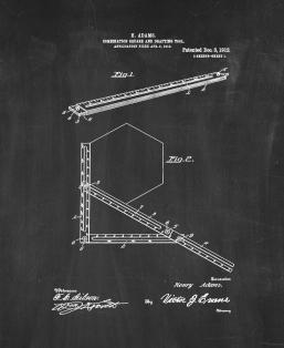 Combination Square and Drafting-tool Patent Print