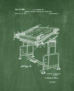 Automatic Universal Drafting and Layout Table Patent Print