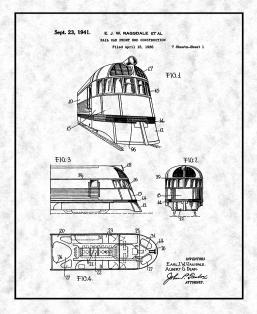 Rail Car Front End Construction Patent Print