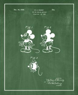 Disney's Mickey Mouse Patent Print
