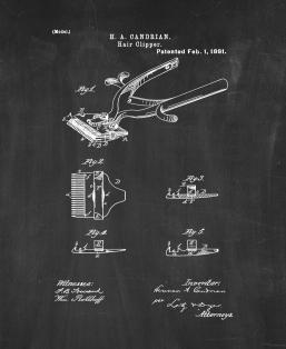 Hair Clipper Patent Print