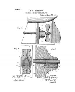 Bearing For Propeller Shafts Patent Print