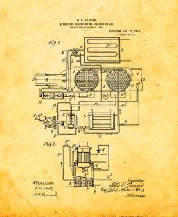 Method For Dehumidifying And Cooling Air Patent Print