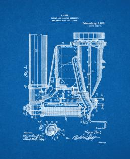 Ford Engine And Radiator Assembly Patent Print