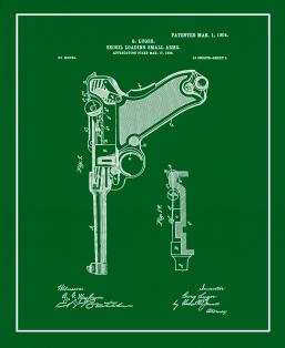 Luger Recoil Loading Small Arms Patent Print