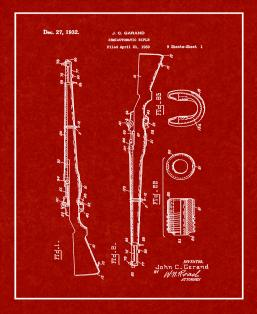 Semiautomatic Rifle Patent Print