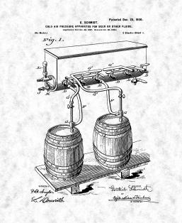 Cold-air-pressure Apparatus For Beer Or Other Fluids Patent Print